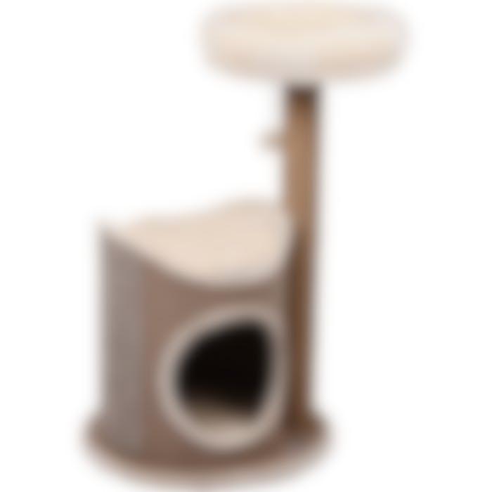 Tonneau À Griffer Avec Arbre À Chat George Beige 68x49x90cm