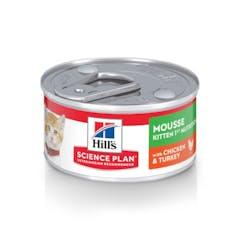 Hill's Science Plan Kitten 1st Nutrition Mousse Kip & Dinde 24x82g