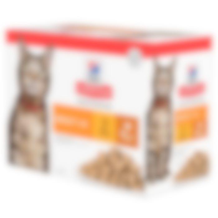 Hill's Science Plan Adult Poultry Selection Multipack Kip en Kalkoen 12x85g