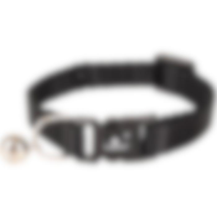 Kittenhalsband Ziggi Zwart 15-22cm 10mm