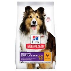 Hill's Science Plan Adult Sensitive Stomach & Skin Poulet 12kg