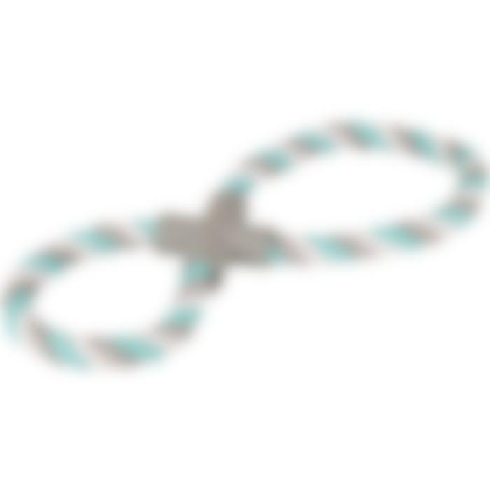 Jchien Coton Jim Corde De Tirage 8-anneau Menthe/blanc/gris 37cm