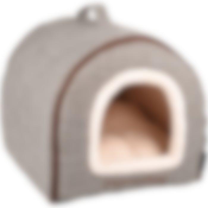 Endroit Pour Dormir Snoozebay Maison + Fermeture Éclair Brun 45x35x35cm