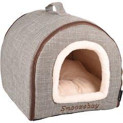 Slaaplaats Snoozebay Huis + Rits Bruin 45x35x35cm