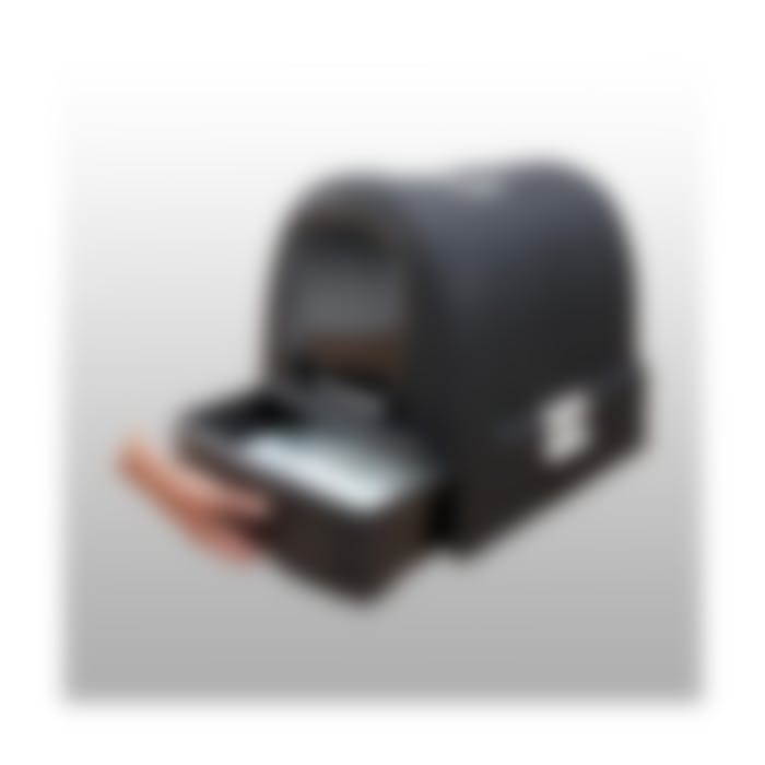 Bac à litière couverte avec tiroir récupérateur