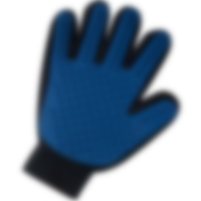 Gant De Toilettage Mandy Bleu/noir 24cm