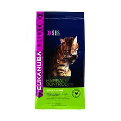 Eukanuba Adult Hairball Indoor pour chat 4kg