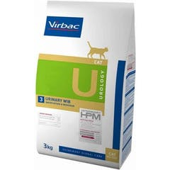 Virbac HPM Urology Urinary Wib U3 pour chat 3kg