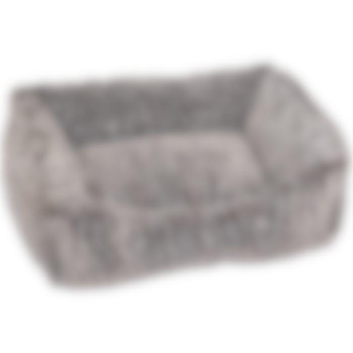Panier Snoozzy Rectangulaire Gris/noir 50x40x15cm