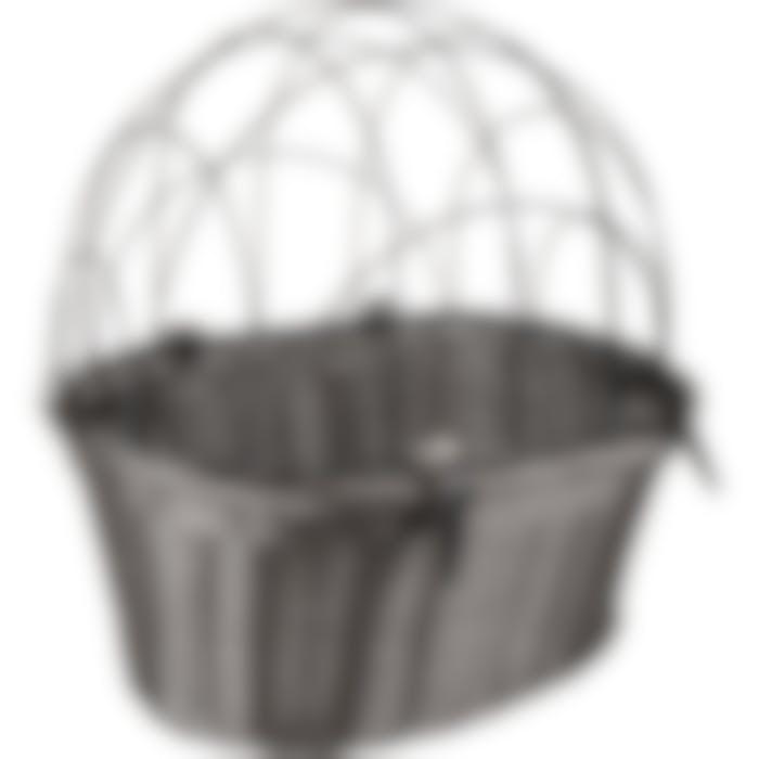 Panier Pour Velo Guidon Crochet Linea Noir 43,5x36x45cm