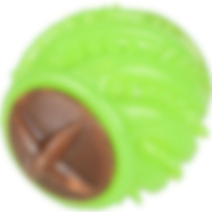 Jchien Tpr Krico Balle Vert L Dia 9cm + 2 Friandises Avec Arôme Poulet
