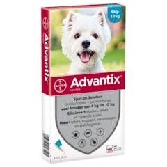 Advantix 100/500 Spot-on Solution Voor Honden 4-10kg 6pip
