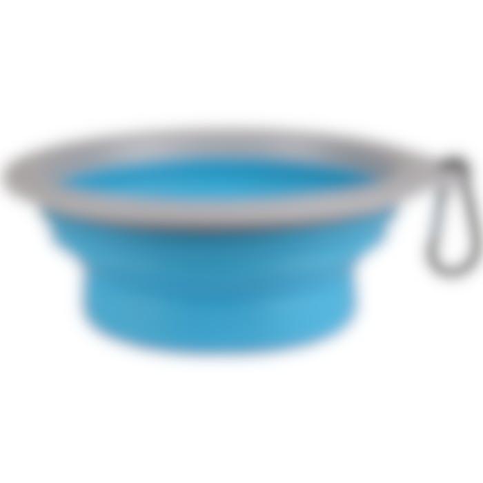 Mangeoire De Voyage Bubo Bleu/gris 625ml
