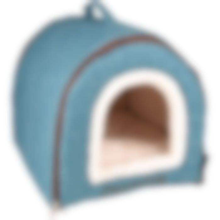 Endroit Pour Dormir Snoozebay Maison + Fermeture Éclair Bleu 45x35x35cm
