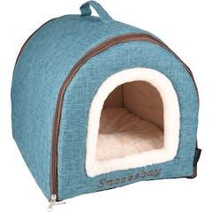 Slaaplaats Snoozebay Huis + Rits Blauw 45x35x35cm