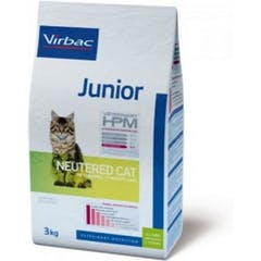 Virbac Veterinary Hpm Junior Neutered – pour chat 3kg