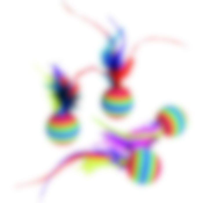 Jc 4 Ballon Rainbow+plume
