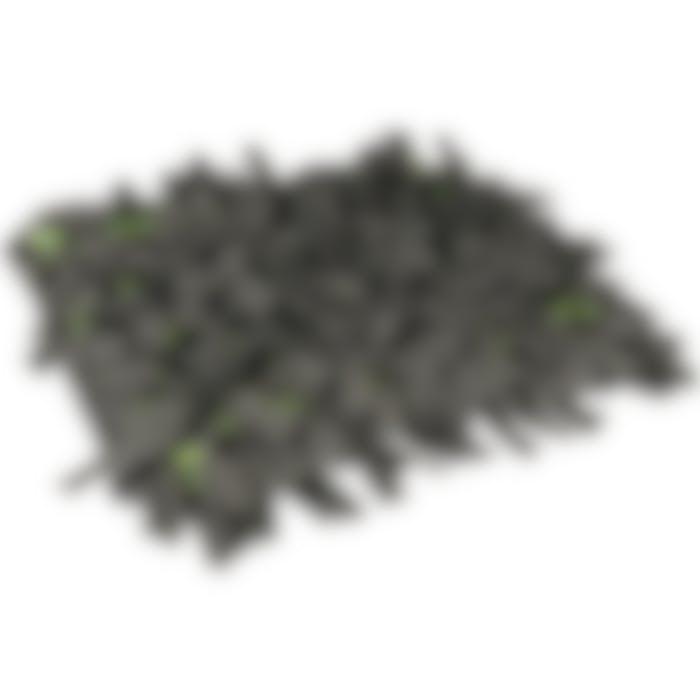 Snuffelmat Amigo Rechthoekig+ Rits Grijs/groen 40x50cm