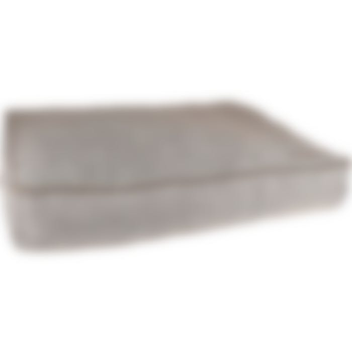 Coussin Snoozebay Rectangulaire+fermeture Éclair+rebord Brun 100x70x16cm