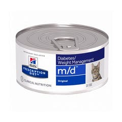 Hill's Prescription Diet M/D Minced – Kattenvoer – 24x156g
