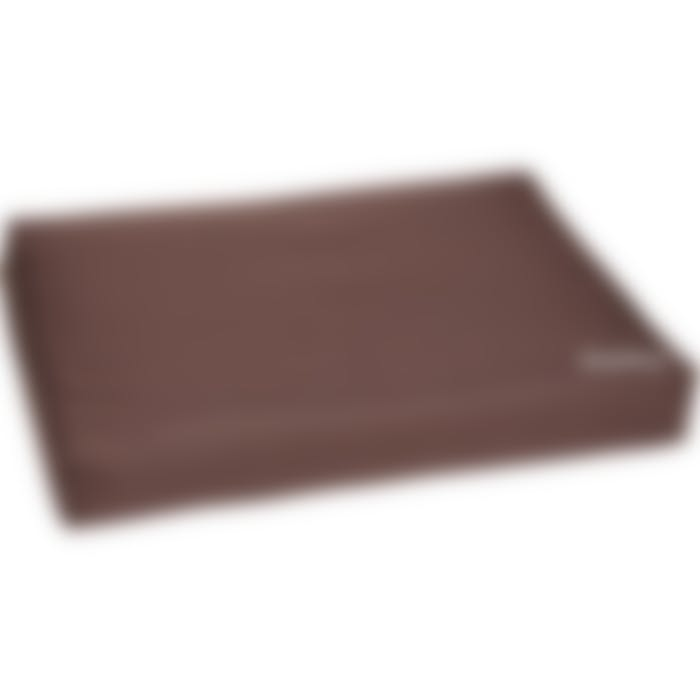 Coussin Dreambay Rectangulaire+fermeture Éclair+rebord Brun 80x55x12cm