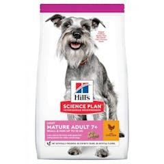Hill's Science Plan Mature Adult Light Small & Mini croquettes pour petit chien agé au poulet