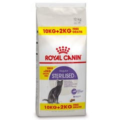 Royal Canin Sterilised Pour Chat 10kg + 2kg Gratuit