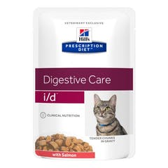 Hill's Prescription Diet I/D Saumon pour chat 12x85g