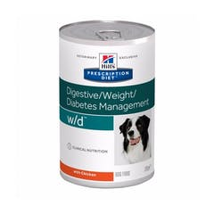 Hill's Prescription Diet W/D – Hondenvoer met Kip – 12x370g