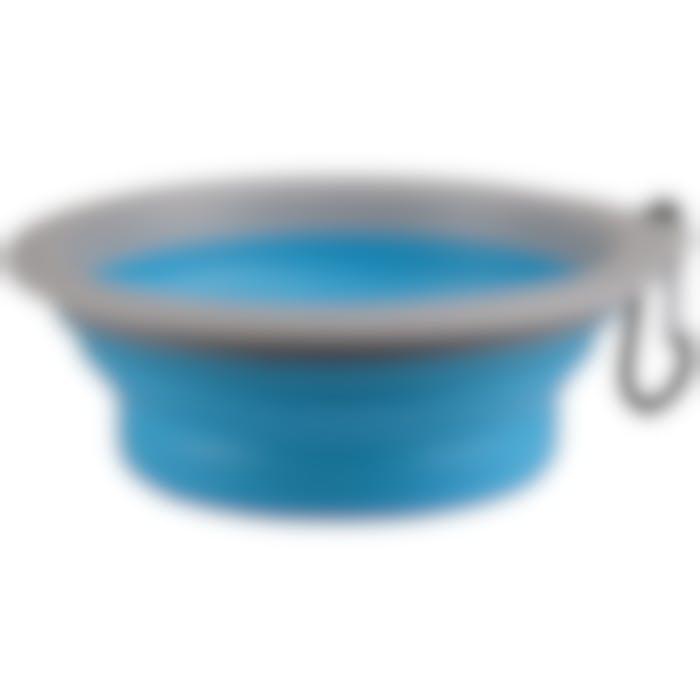 Mangeoire De Voyage Bubo Bleu/gris 375ml