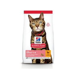 Hill's Science Plan Adult Light Kattenvoer Kip 10kg