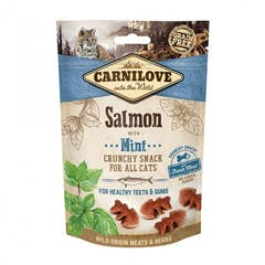 CARNILOVE Crunchy Snack au Saumon et Menthe 50g