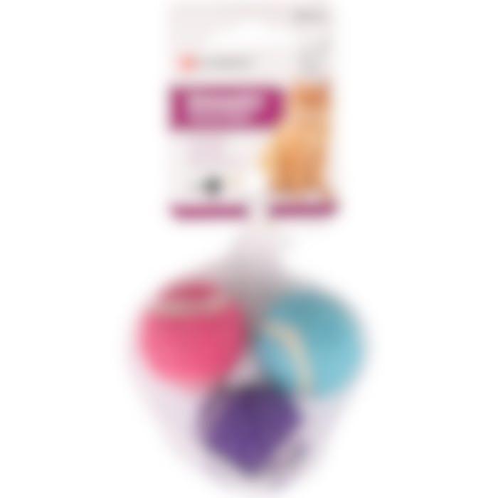 Jchat Balle De Tennis+clochette Multicolore 4cm 3pcs