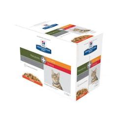 Hill's Prescription Diet Metabolic + Urinary Stress – Kattenvoer met Kip – 12x85g