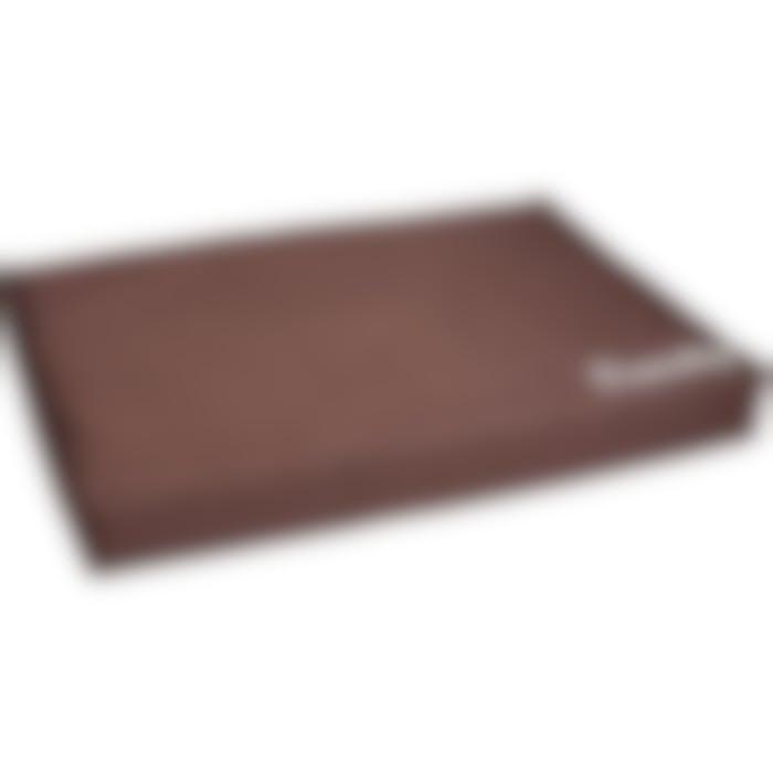 Coussin Dreambay Rectangulaire+fermeture Éclair+rebord Brun 120x80x16cm