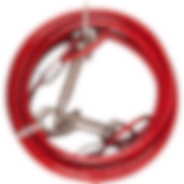 Cable De Niche Plastifiee Rouge 3m 4mm