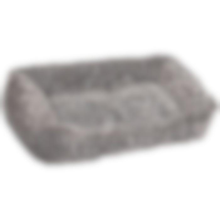 Panier Snoozzy Rectangulaire Gris/noir 65x45x15cm