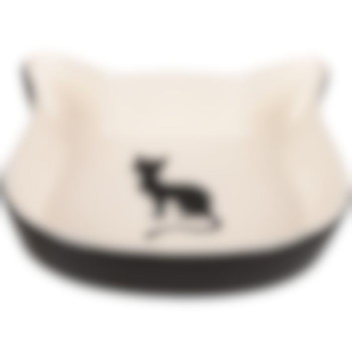 Eetpot Kat Nala Kattengezicht Keramisch Zw-wit 220ml 12,5cm