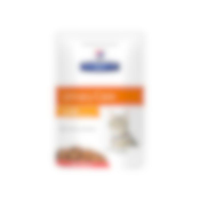 Hill's Prescription Diet C/D Multicare – Kattenvoer met Zalm –  Maaltijdzakjes 12x85g