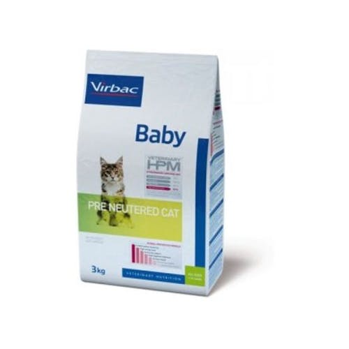 Virbac Veterinary Hpm Baby Pre Neutered - Kattenvoer - 400g