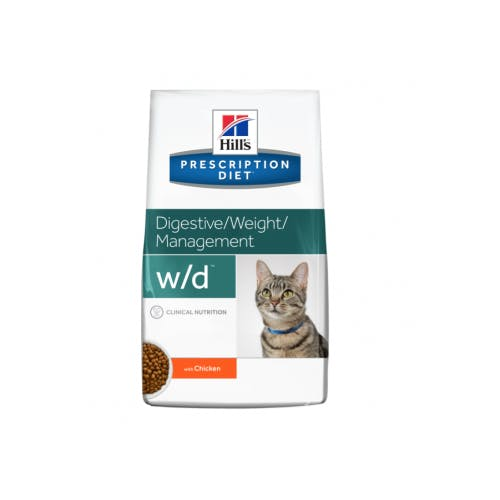 Hill's Prescription Diet W/D croquettes pour chat au poulet
